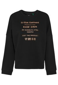 G-Star - GRAPHIC TEXT RELAXED - Sweatshirt - black - 3