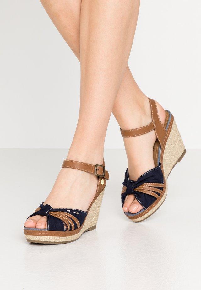 Sandalias de tacón - navy