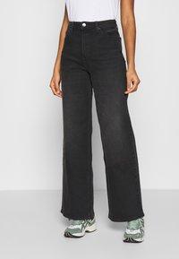 Lee - STELLA A LINE - Flared Jeans - captain black - 0