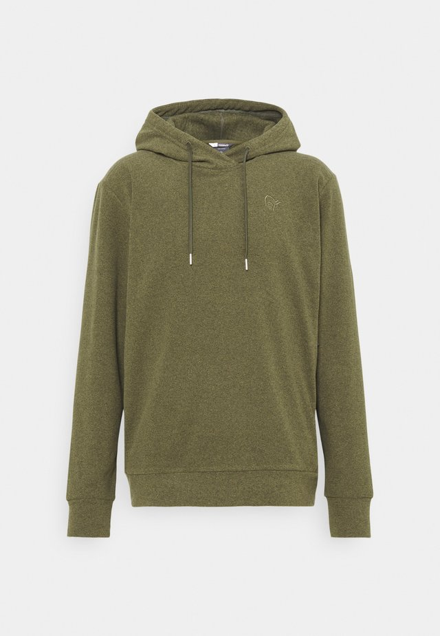 WARM HOOD - Sweatshirt - olive night