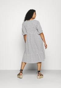 Simply Be - WAFFLE SQUARE NECK TIERED MIDI DRESS - Day dress - off-white - 2