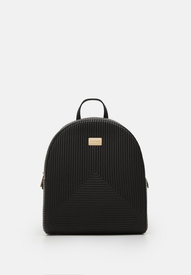 QUILTED BACKPACK - Rucksack - black
