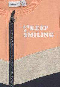 Name it - NMFLORI CARD  - Zip-up sweatshirt - dark sapphire - 2