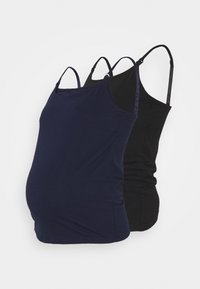 Anna Field MAMA - 2PACK NURSING FUNCTION cami - Toppe - black/dark blue - 0