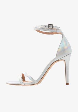 ONLAILA WRAP - High heeled sandals - silver