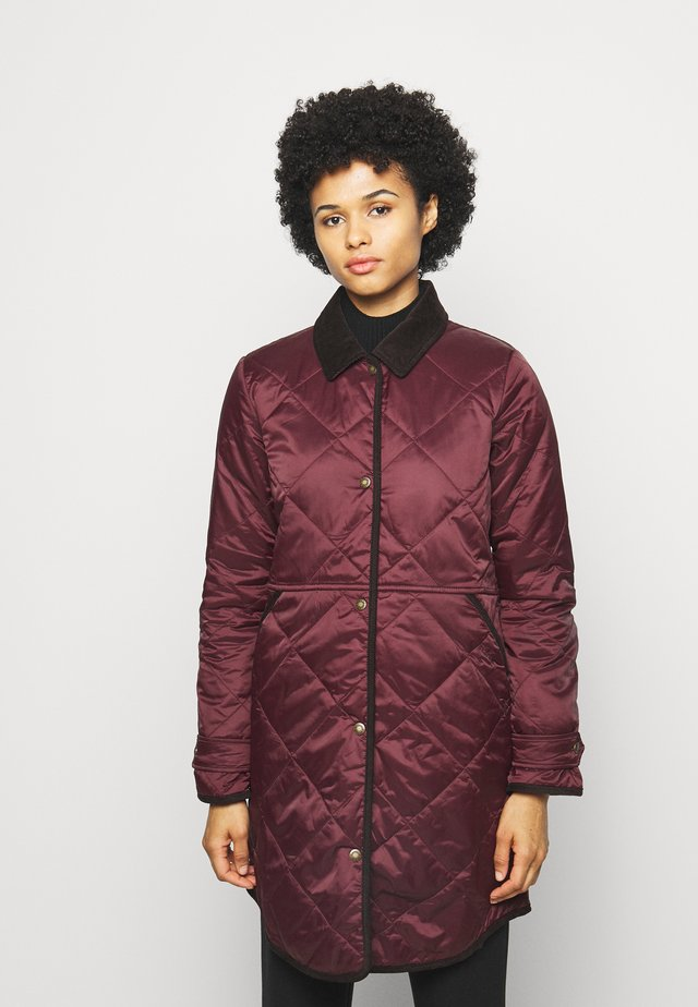 PEPPERGRASS QUILT - Winter coat - eggplant