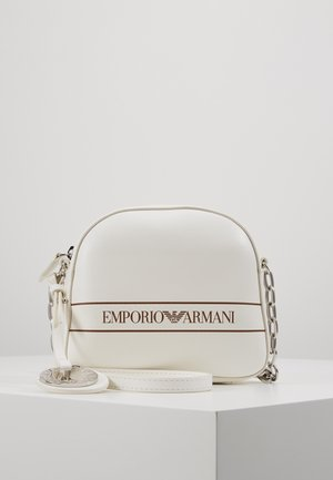 FRIDA STRIPE LOGO CAMERA - Across body bag - bianco