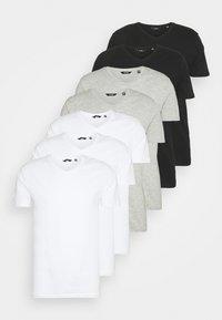 ONSBASIC LIFE  VNECK 7 PACK - Basic T-shirt - white/black