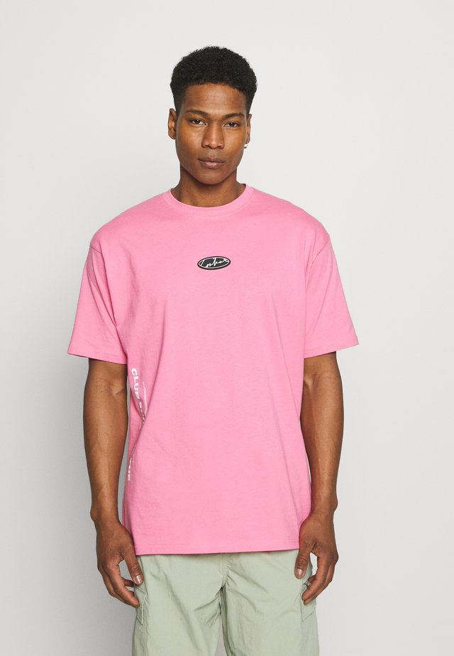 RUBBER BADGE DEFINITION GRAPHIC - T-shirts med print - pink