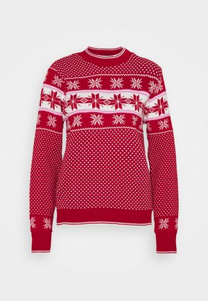 SNOWFLAKE FAIRISLE JUMPER - Jumper - red