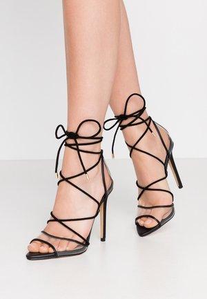 AMENABAR - Sandaler med høye hæler - black