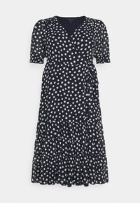 Forever New Curve - WRAP TIERED MIDI DRESS - Day dress - navy - 0
