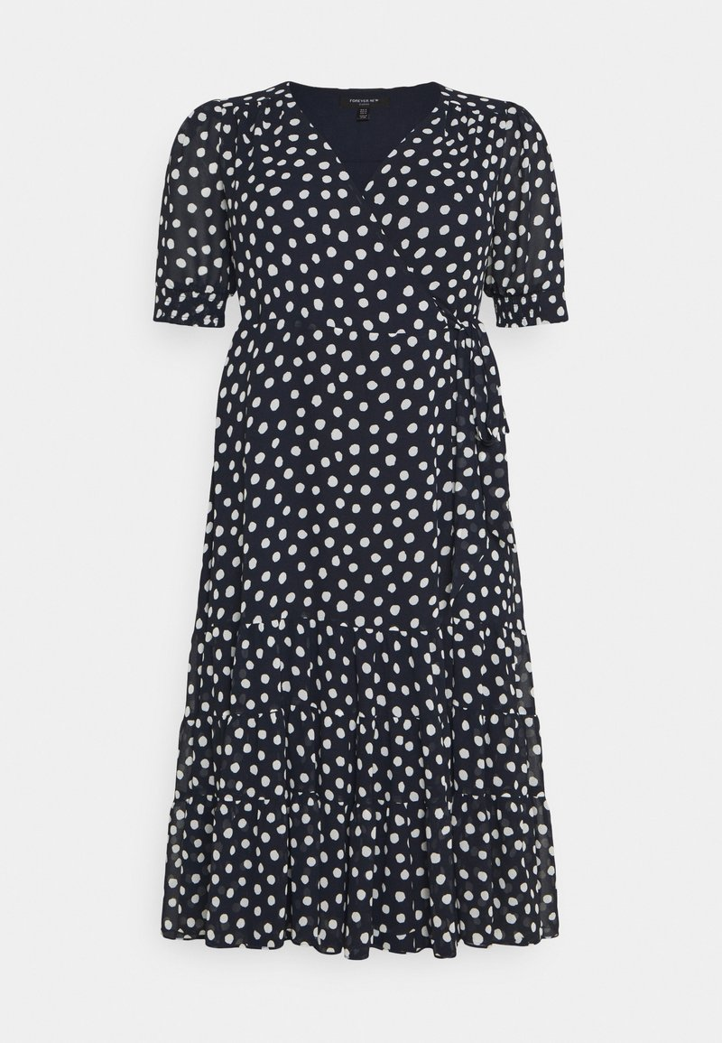 Forever New Curve - WRAP TIERED MIDI DRESS - Day dress - navy