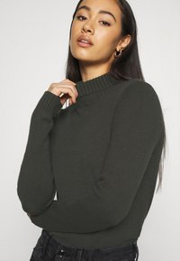 Noisy May - NMPENNY HIGH NECK - Jumper - peat - 4