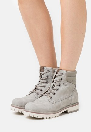 IBIZA TEX BOOTIE - Lace-up ankle boots - light grey