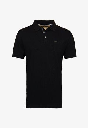 MIT BRUSTTASCHE - Polo shirt - schwarz