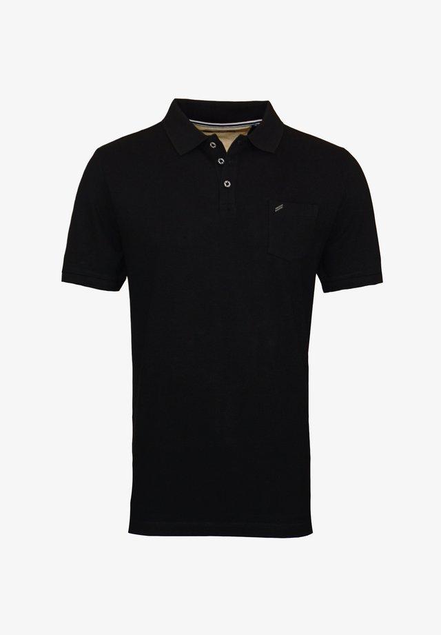 MIT BRUSTTASCHE - Poloshirt - schwarz