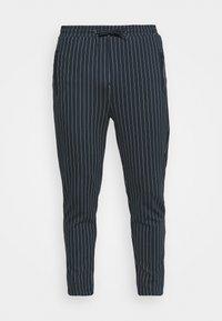 PANTS CROPPED - Kalhoty - dark navy/white