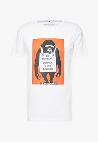 Mister Tee - BANKSY DO NOTHING TEE - T-shirt z nadrukiem - white - 3