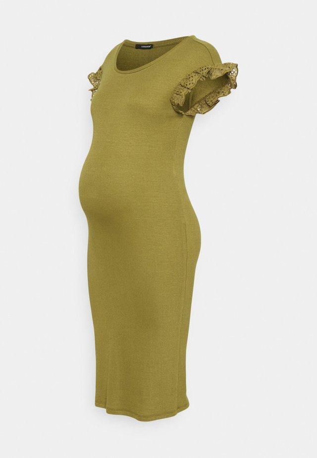 DRESS - Robe en jersey - olive