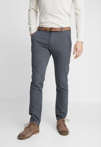 TOM TAILOR DENIM - STRUCTURED - Chino - black/grey - 0