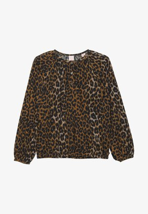 IN BOXY FIT WITH ALL OVER PRINT - Blusa - cognac