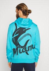 Fanatics - MLB MIAMI MARLINS HOODIE - Klubové oblečení - blue - 2
