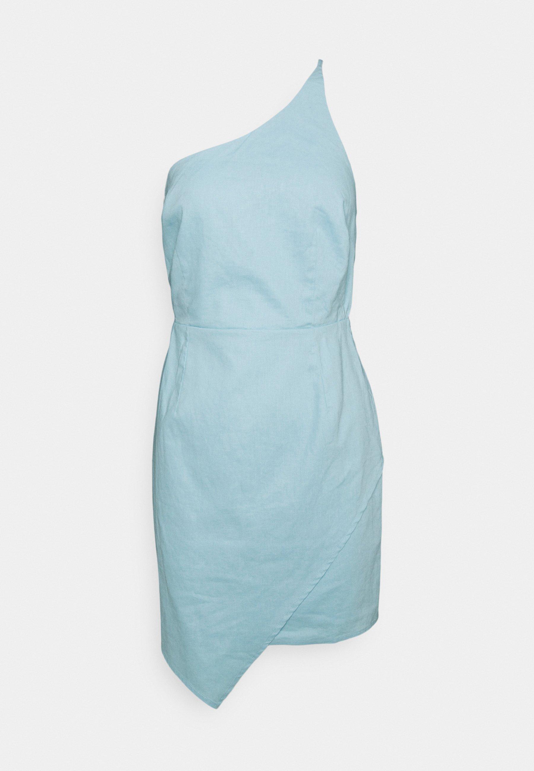Na Kd Mini Dress Cocktailkleid Festliches Kleid Dusty Blue Hellblau Zalando De