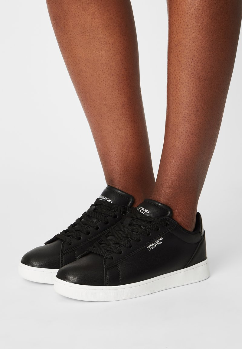 Benetton - LABEL LAMINATI - Sneakers basse - black