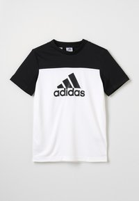 adidas Performance - TEE - T-Shirt print - white/black - 0