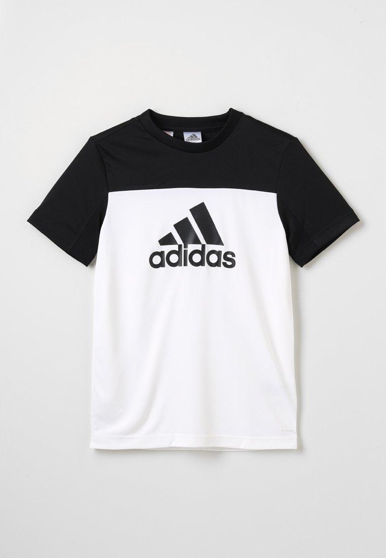adidas Performance - TEE - Triko spotiskem - white/black
