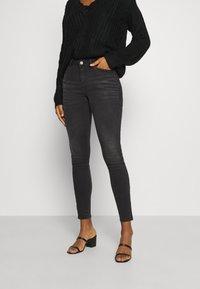 Noisy May - NMKIMMY ANKLE ZIP - Jeans Skinny Fit - dark grey denim - 0