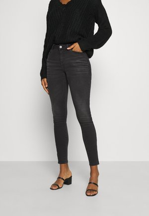 NMKIMMY ANKLE ZIP - Skinny džíny - dark grey denim