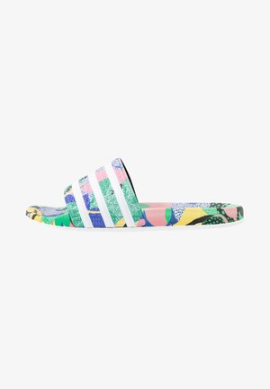 ADILETTE  - Matalakantaiset pistokkaat - super color/footwear white/legend ink