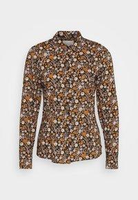 Scotch & Soda - SLIM FIT  - Button-down blouse - black/orange/lilac - 5