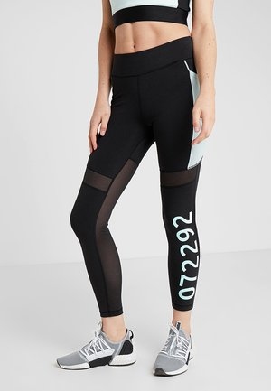 Legginsy - black/fair aqua