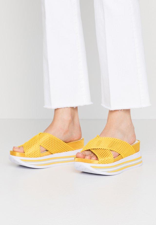 JIL - Heeled mules - yellow