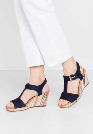 Platform sandals - bluette/multicolor