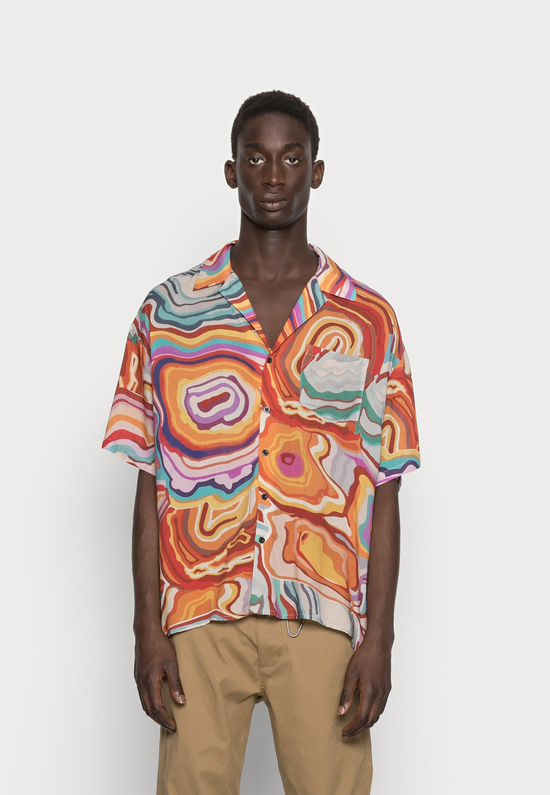 Uomo ABSTRACT 70S REVERE SHIRT - Camicia