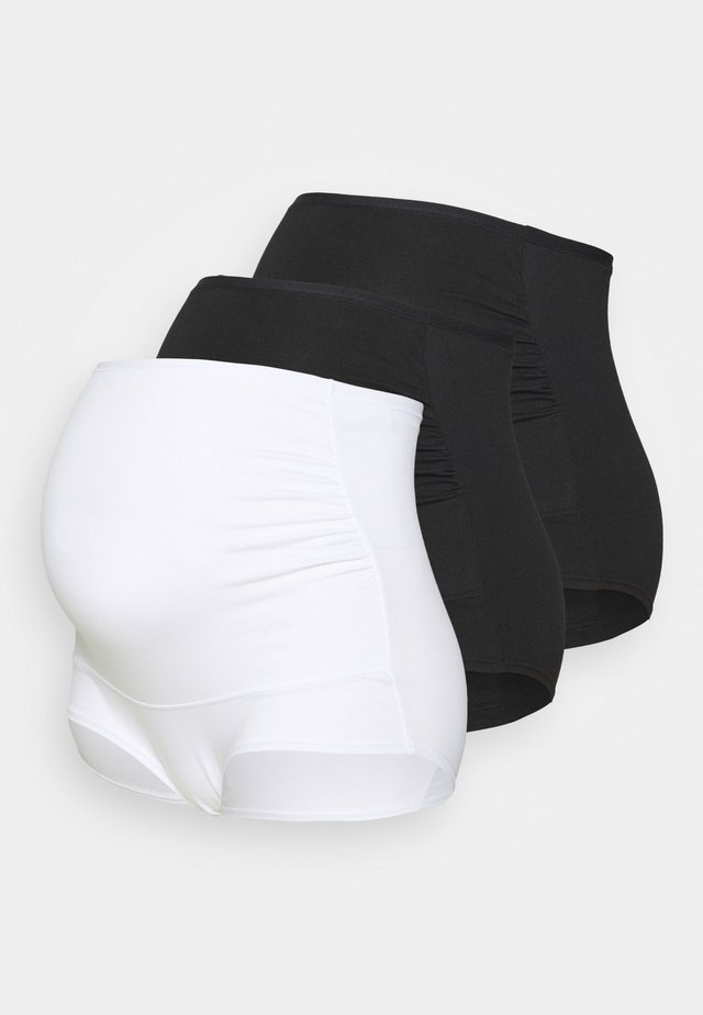 MATERNITY BRIEF 3 PACK - Underbukse - black/white