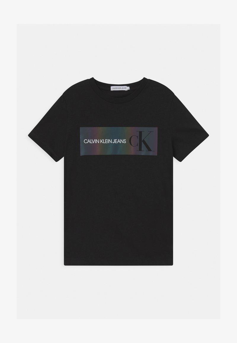 Calvin Klein Jeans - REFLECTIVE LOGO  - Print T-shirt - black