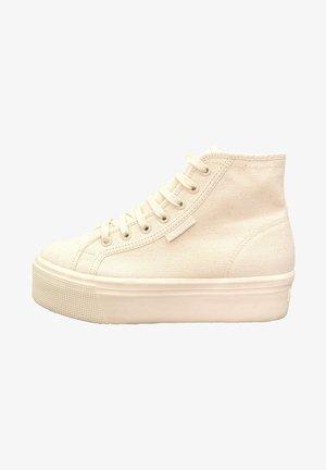 Sneakers hoog - total beige raw