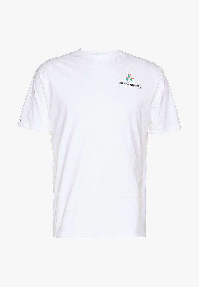 SPORT STYLE REEDER PORTRAIT  - T-shirt print - white