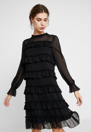 PAULINALC FLOUNCES DRESS - Day dress - pitch black