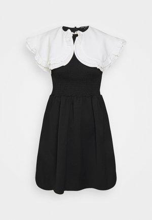 POSTCARD CONFESSIONS MINI DRESS - Denní šaty - black