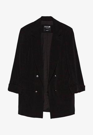 MIT HOCHGEROLLTEN ÄRMELN - Halflange jas - black