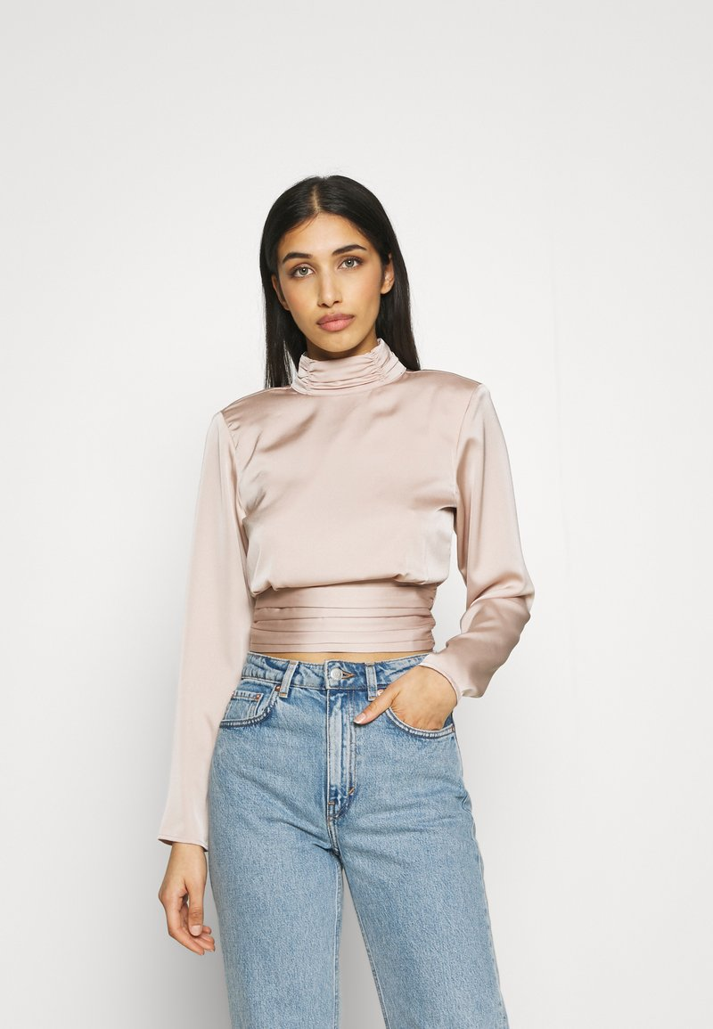 Gina Tricot - CASS OPEN BACK - Blouse - champagne