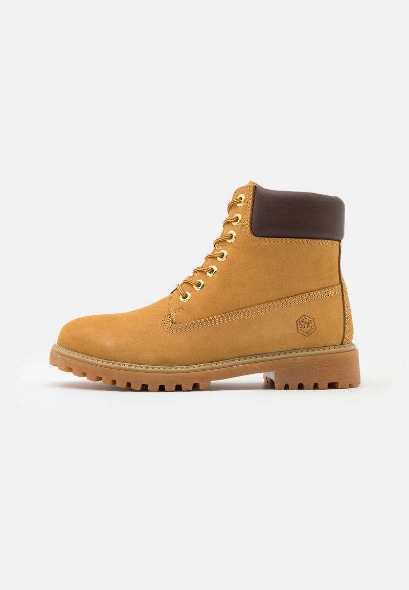 Lumberjack - RIVER - Lace-up ankle boots - yellow/dark brown