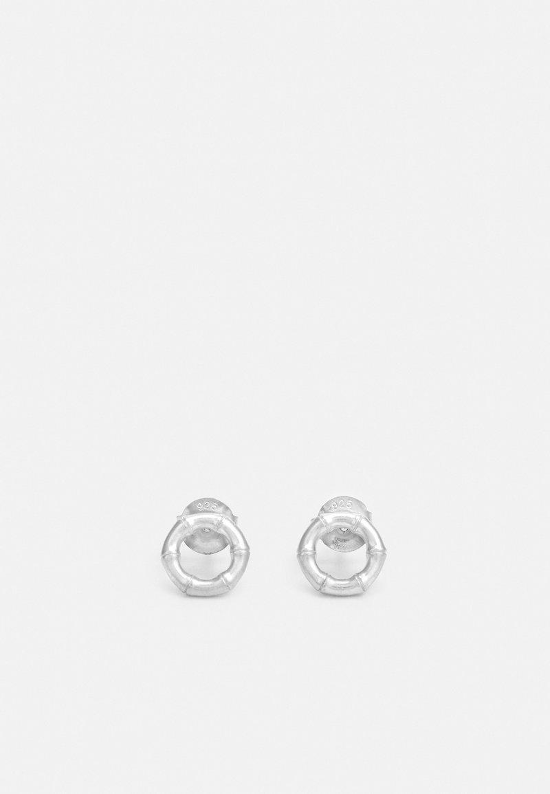 Julie Sandlau - BAMBOO EARSTUDS - Orecchini - silver-coloured
