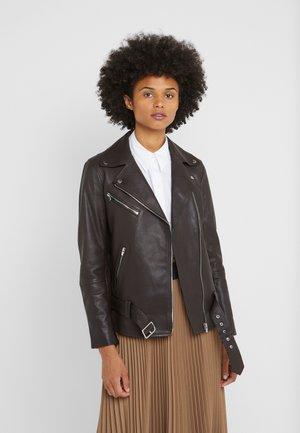 SARIAH JACKET - Leather jacket - brown